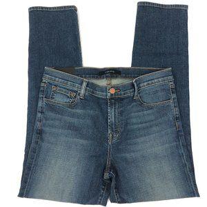 J Brand Maude Cigarette Mid-Rise Straight Jeans 30